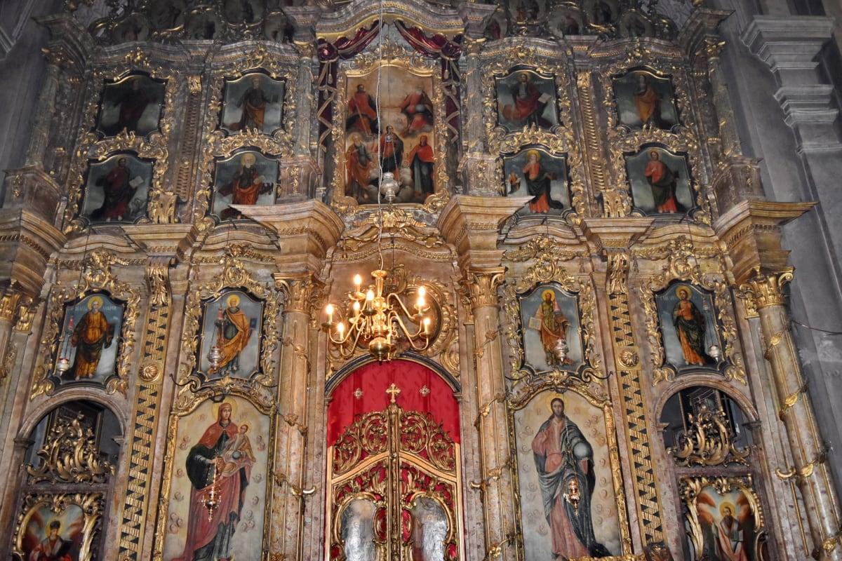 orthodox, saint, Serbia, altar, religious, religion, cathedral, church