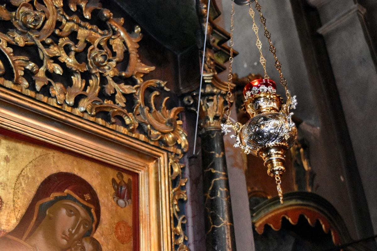 altar, orthodox, sculpture, architecture, religion, church, gold, art