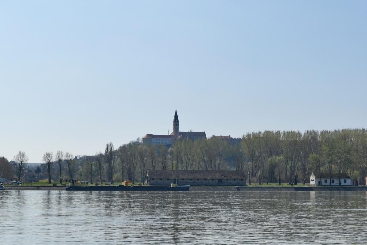 Chorwacja, Atrakcja turystyczna, budynek, Rzeka, nabrzeże, wody, Miasto, architektura