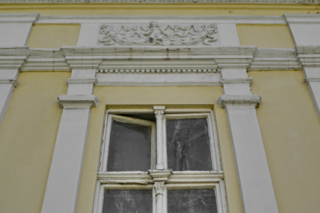baroque, wall, windows, yellow, house, building, window, architecture