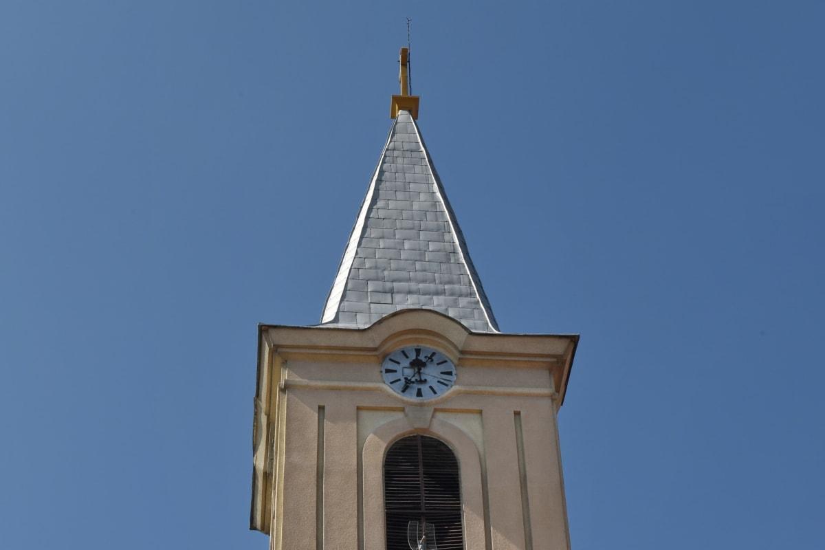 věž, náboženství, architektura, budova, kostel, venku, město, denní světlo