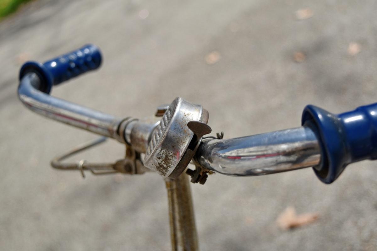 zvono, bicikala, nostalgija, upravljač, na otvorenom, kolo, oprema, industrija
