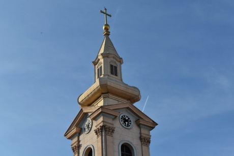 church tower, culture, exterior, tower, church, cross, building, covering