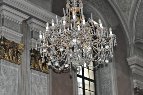 Byzantine, interior decoration, interior design, church, chandelier, architecture, building, old