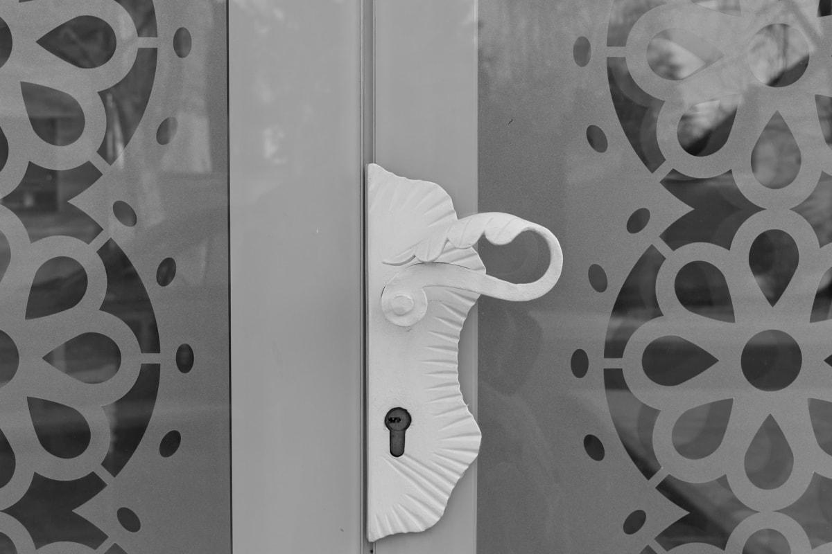 входната врата, стъкло, монохромен, прозрачен, дизайн, стомана, модерни, технология