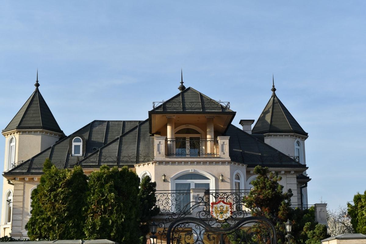 dyrt, facade, luksus, bygning, arkitektur, hus, Palace, asuinpaikka