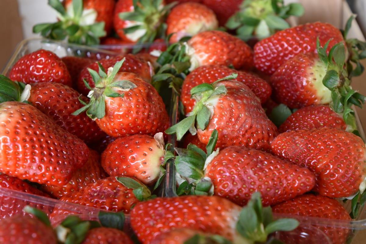 มีสุขภาพดี, ผลไม้, อาหาร, เบอร์รี่, ผลิต, สตรอเบอร์รี่, อร่อย, หวาน