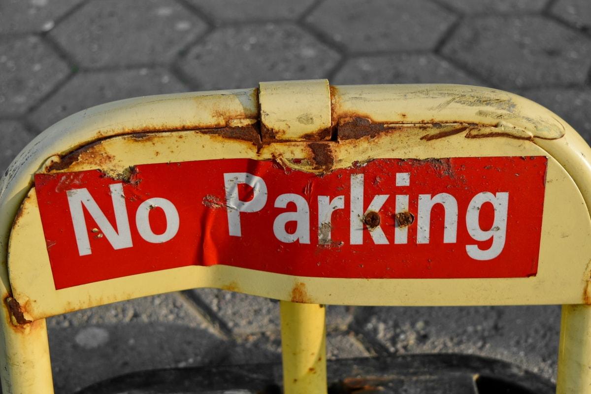 parkeren, parkeerplaats, bescherming, teken, gevaar, waarschuwing, veiligheid, Straat