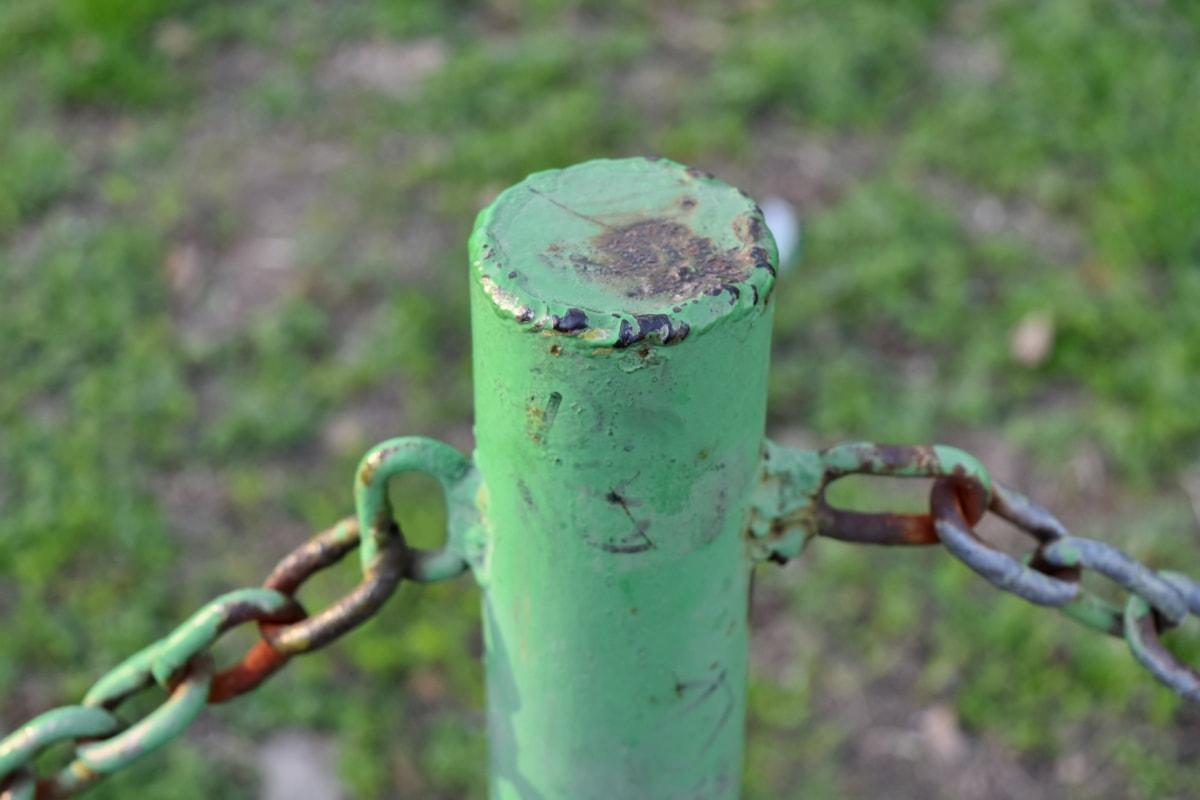 litina, plotu, zelená, kov, malování, bariéra, plot, Příroda