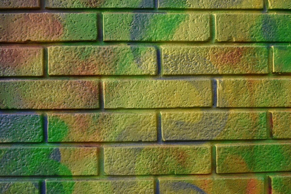 γκράφιτι, υφή, κτίριο, σκυρόδεμα, μοτίβο, παλιά, τούβλο, τοίχου