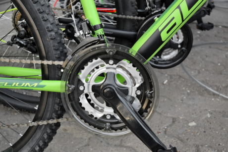 bicycle, chain, gearshift, mechanism, vehicle, brake, transportation, wheel