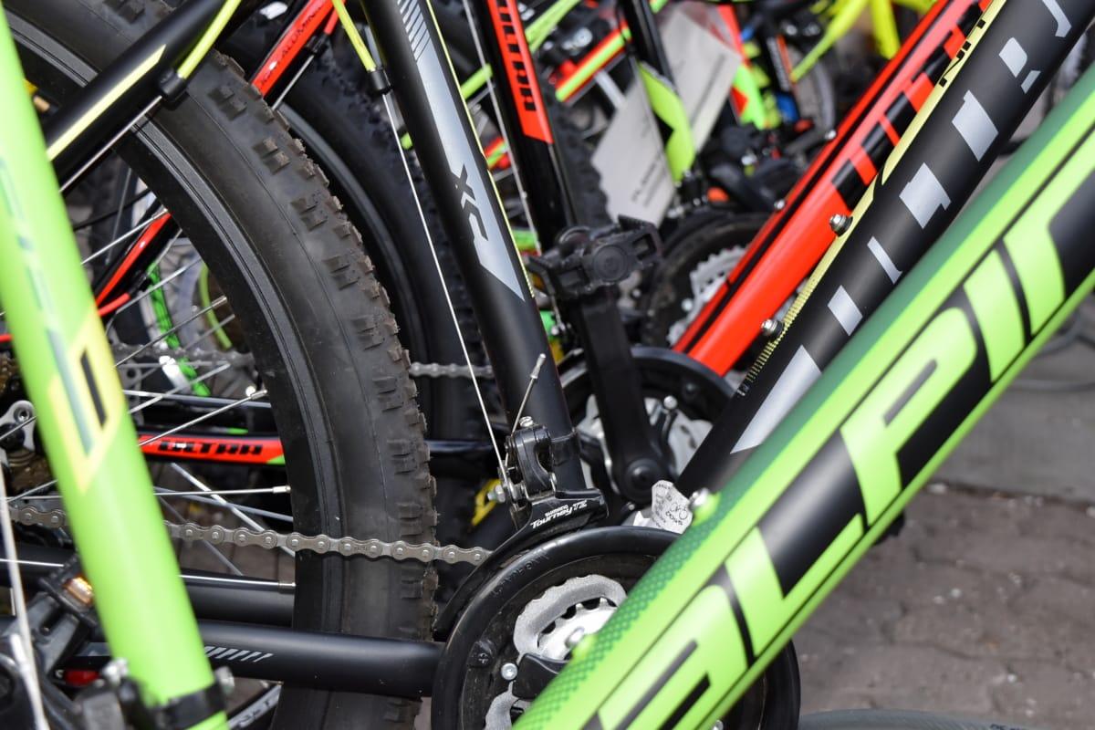 bicikala, lanac, sportski, kolo, natjecanje, bicikl, ceste, praćenje