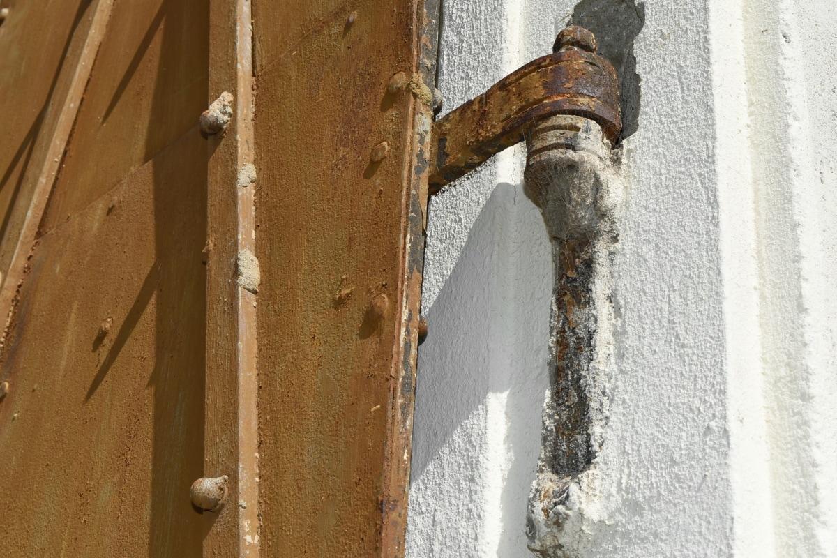 Чавун, передні двері, кріплення, Старий, Архітектура, Будівля, двері, Стіна