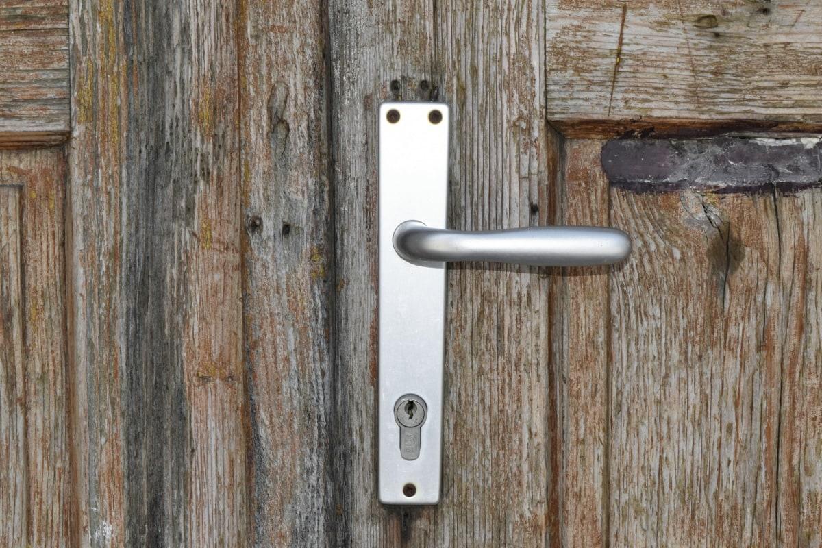 закопчалка, дървени, стар, вратата, дървен материал, текстура, стена, Дърводелски
