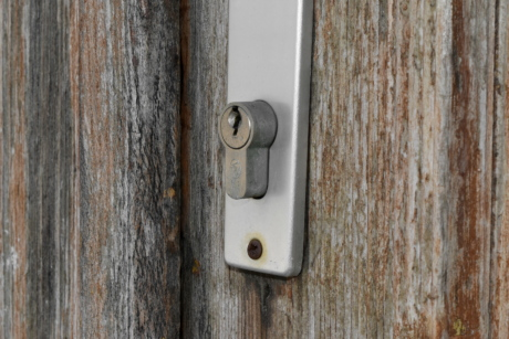 front door, keyhole, wooden, old, door, wood, lock, security
