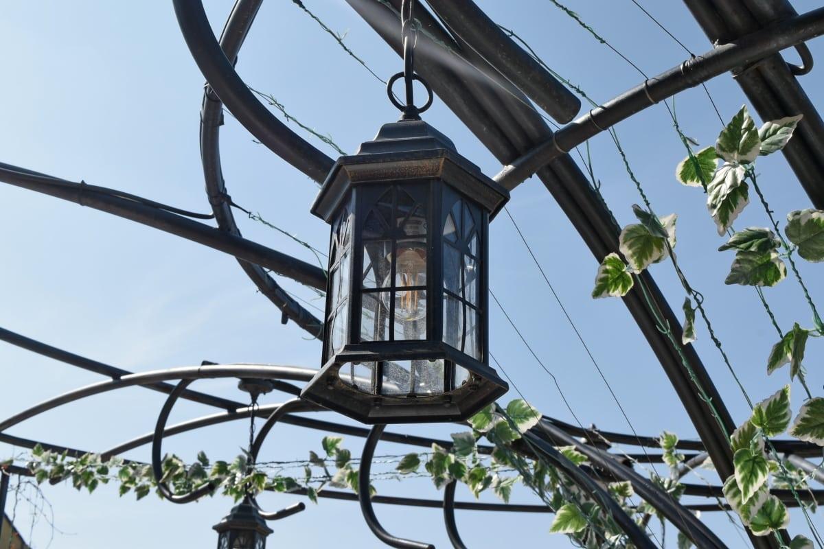 električne energije, lanterna, žarulja, napon, žica, kabel, na otvorenom, Lampa