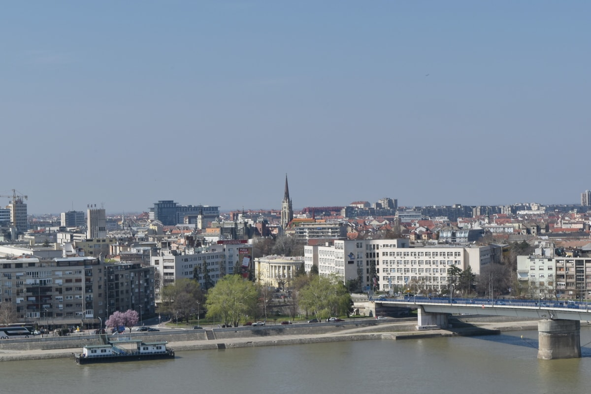 Панорама, Сербія, притягнення туриста, Архітектура, набережна, Річка, Будівля, міський пейзаж