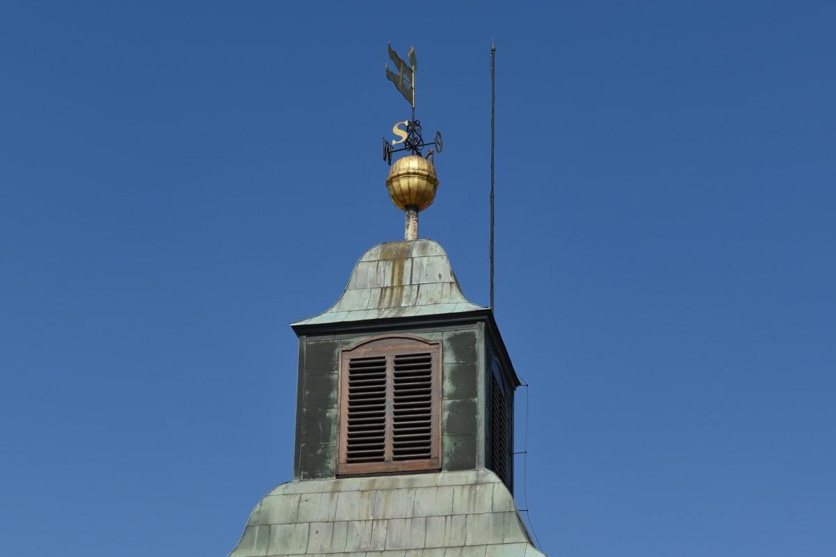 turistická atrakce, budova, architektura, venku, modrá obloha, tradiční, staré, kříž
