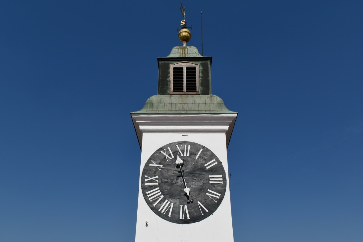 Serbia, objek wisata, arsitektur, penutup, bangunan, Menara, jam, di luar rumah