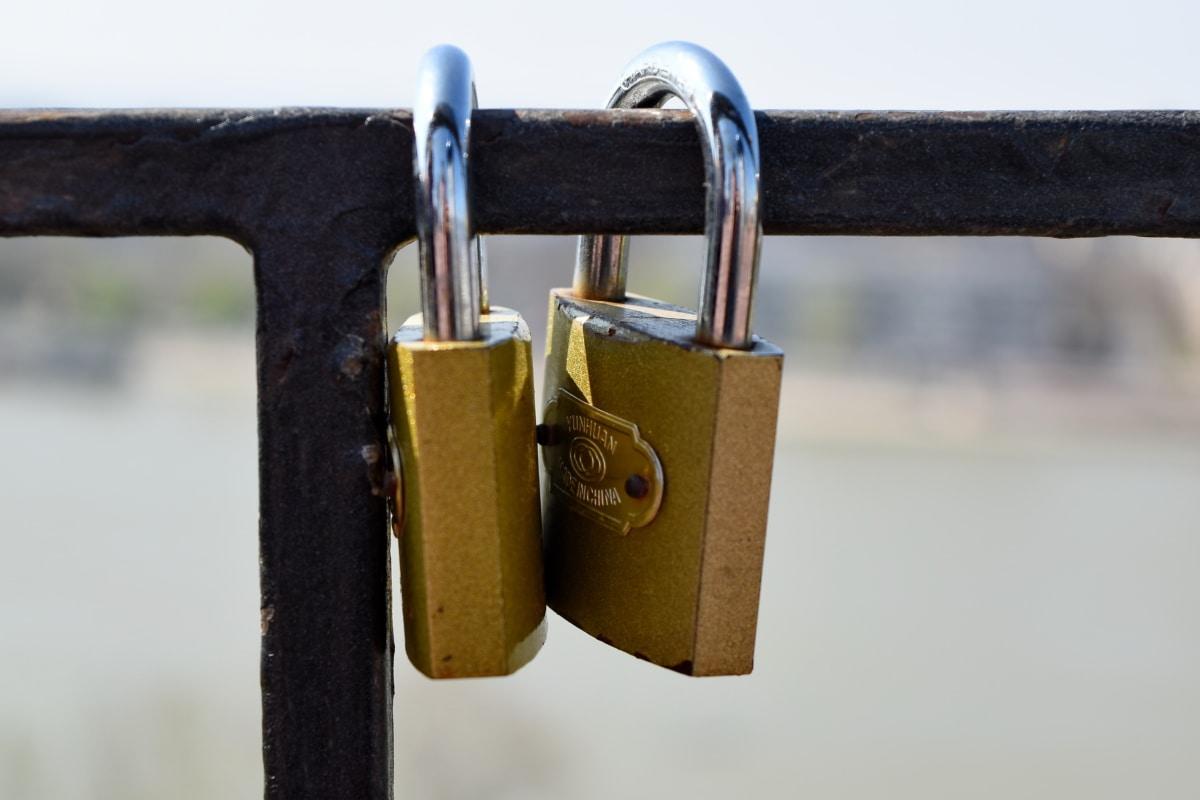 รั้ว, สแตนเลสสตีล, โลหะ, สปริง, ล็อค, รักษาความปลอดภัย, กุญแจ, ความปลอดภัย