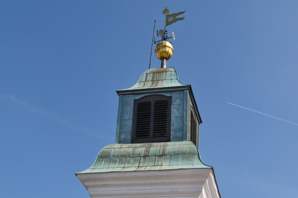 stabilisator, arkitektur, Dome, Cross, Utomhus, blå himmel, gamla, traditionella