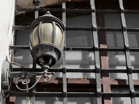 cast iron, lantern, steel, device, iron, industry, lamp, old