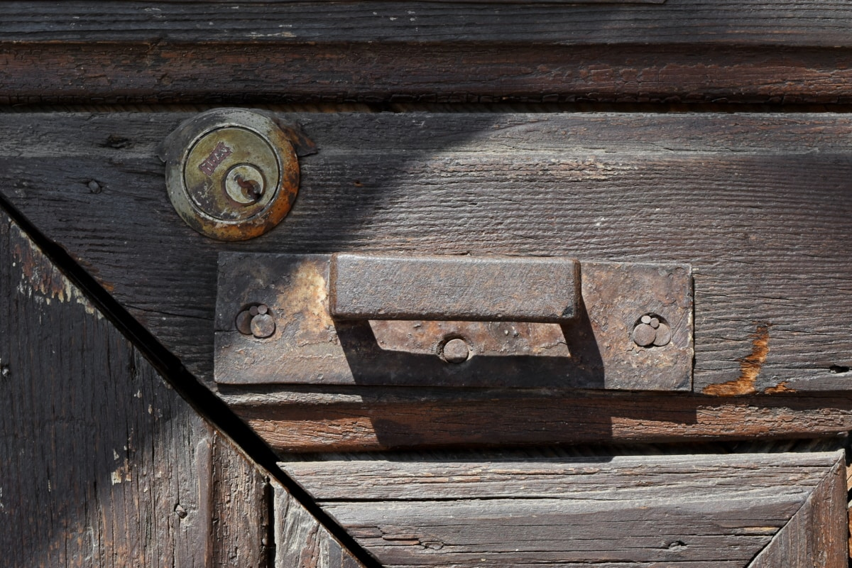 carpentry, keyhole, wooden, box, wood, old, container, latch