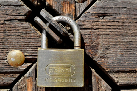 padlock, lock, device, old, metal, safety, fastener, security