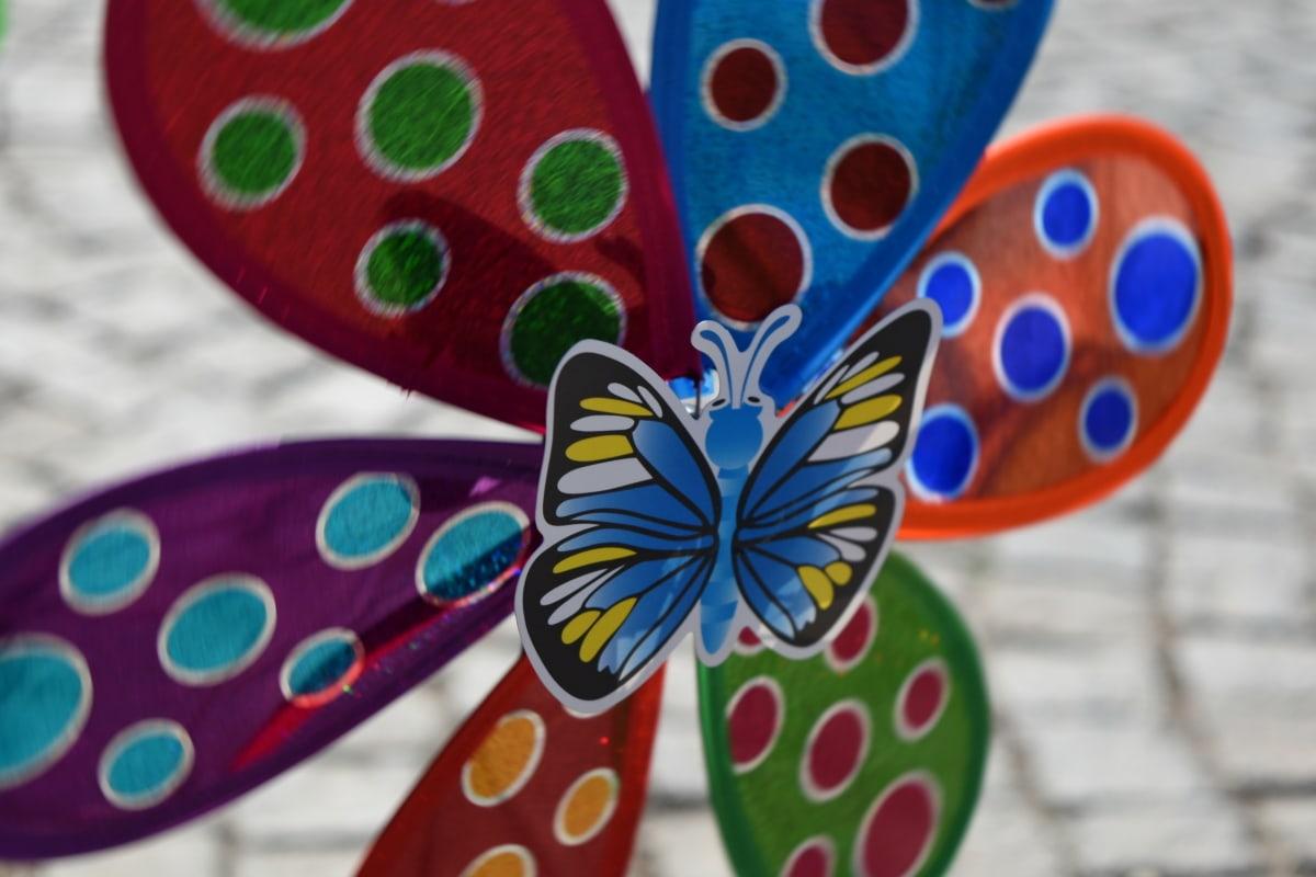 toy, wind turbine, pattern, decoration, design, art, summer, bright