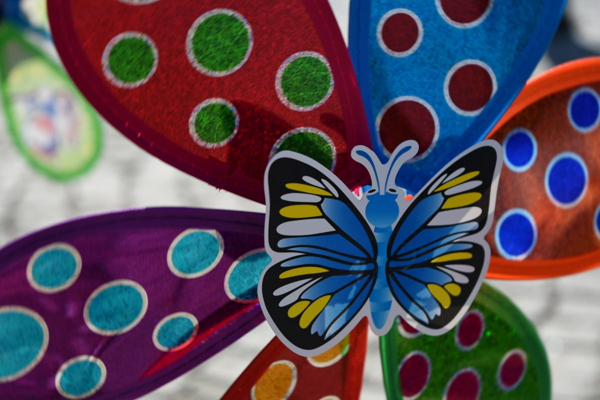 butterfly, toys, decoration, art, abstract, design, texture, bright