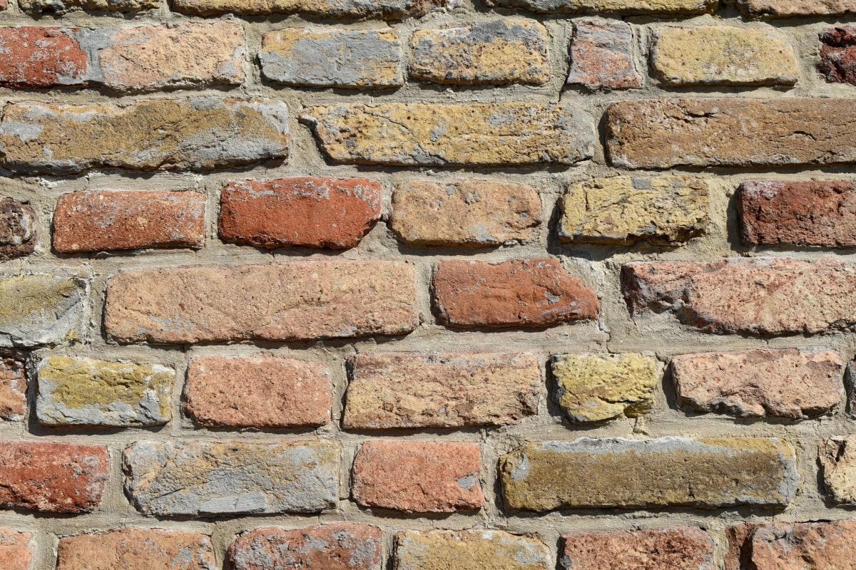 ściana, kamień, architektura, stary, Cegła, betonu, powierzchni, cementu