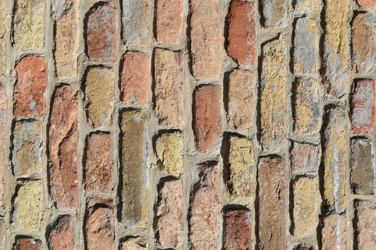 concrete, vertical, pattern, old, surface, brick, texture, wall