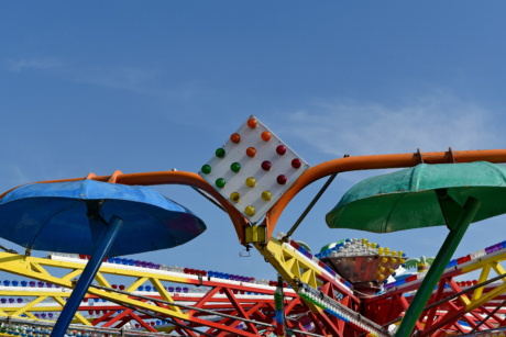 colourful, park, ride, entertainment, fun, carnival, carousel, recreation