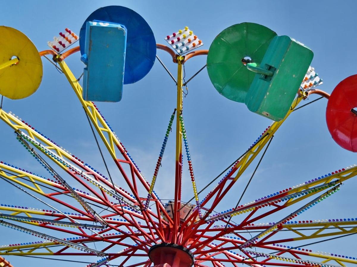 zabava, mehanizam, vrtuljak, vožnja, karneval, zabava, kolo, veselje