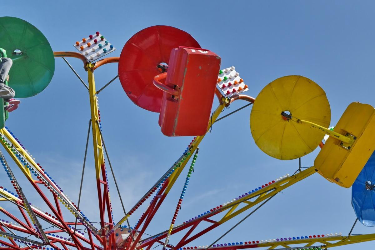весело, механізм, парк, розваги, на відкритому повітрі, карнавал, карусель, цирк