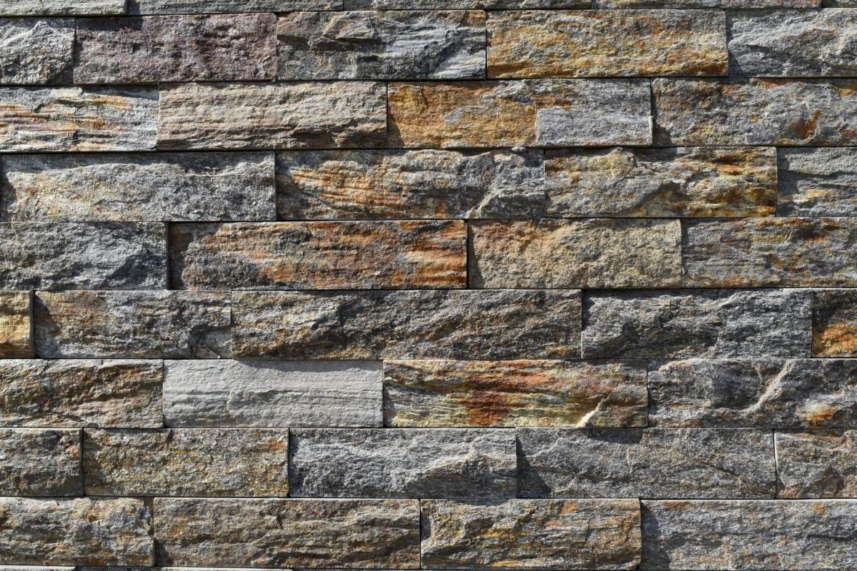 стена, необработен, модел, текстура, камък, стар, строителство, куб