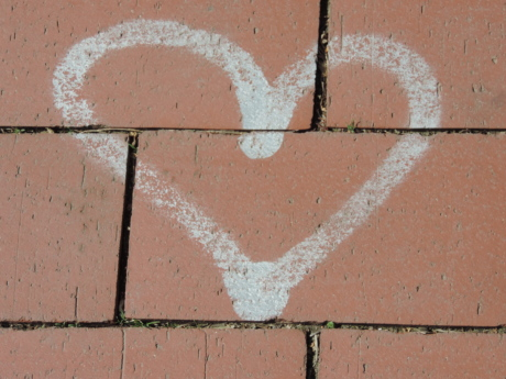 heart, love, romantic, symbol, concrete, brick, pattern, grunge