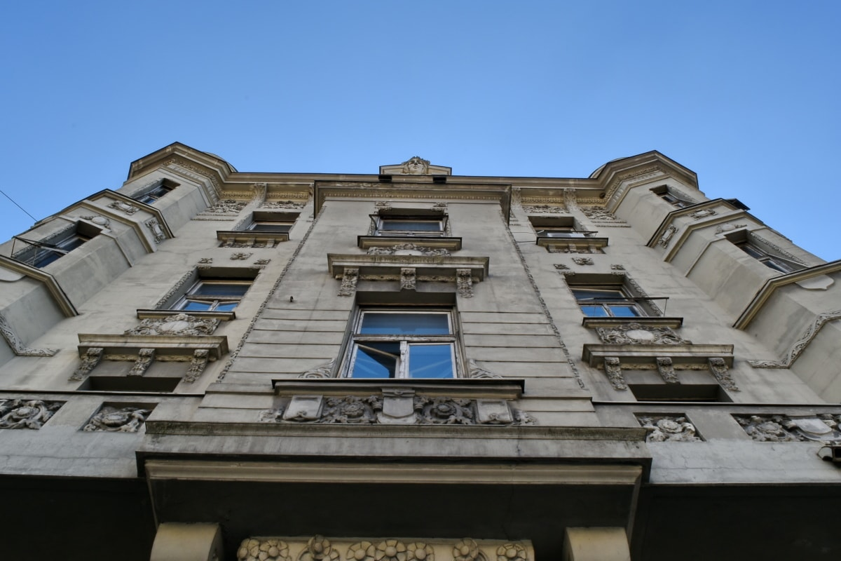 perspective, building, architecture, roof, old, city, outdoors, house