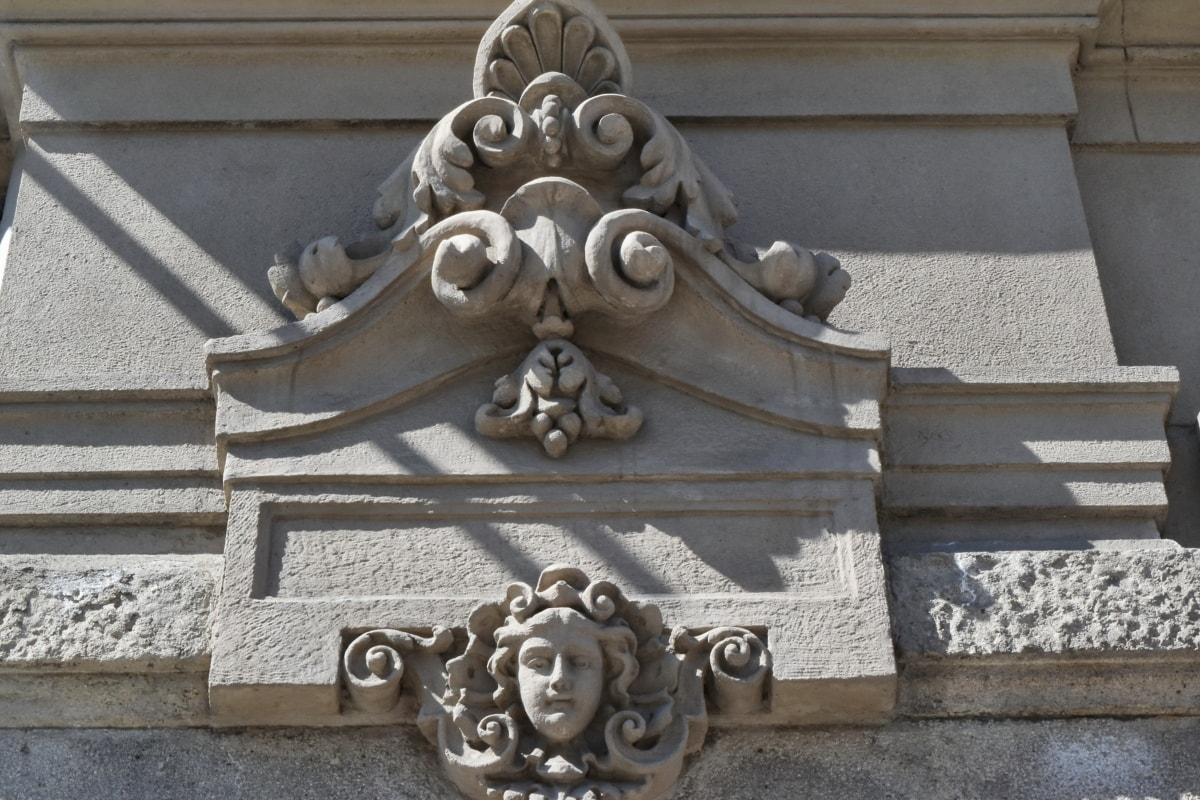 hlavního města, fasáda, budova, sochařství, architektura, umění, staré, kámen