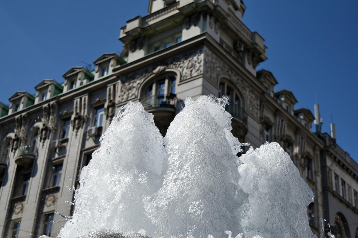 πρωτεύουσα, Κρήνη, νερό, κτίριο, αρχιτεκτονική, κρύο, σε εξωτερικούς χώρους, πόλη