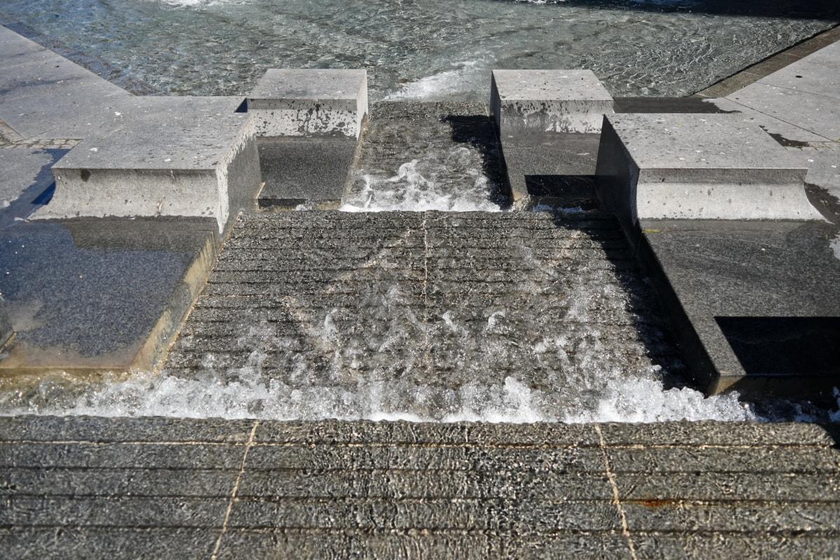 fountain, staircase, tourist attraction, structure, stone, memorial, pavement, concrete