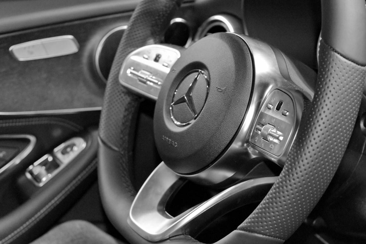 monochrome, steering wheel, car, drive, mechanism, dashboard, gearshift, vehicle