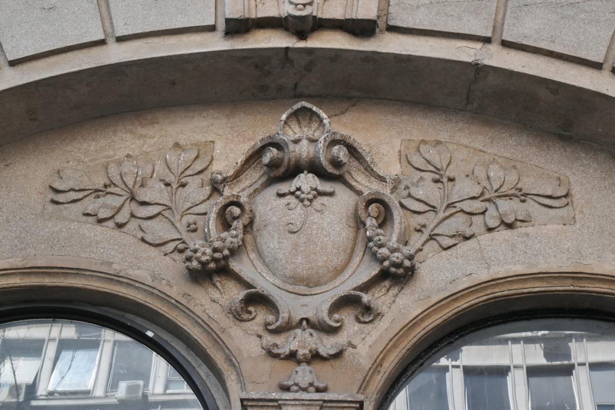 Χειροποίητο, παράθυρο, αρχιτεκτονική, κτίριο, γλυπτική, παλιά, τέχνη, διακόσμηση