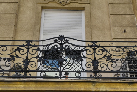 cast iron, facade, fence, wall, architecture, balcony, structure, building
