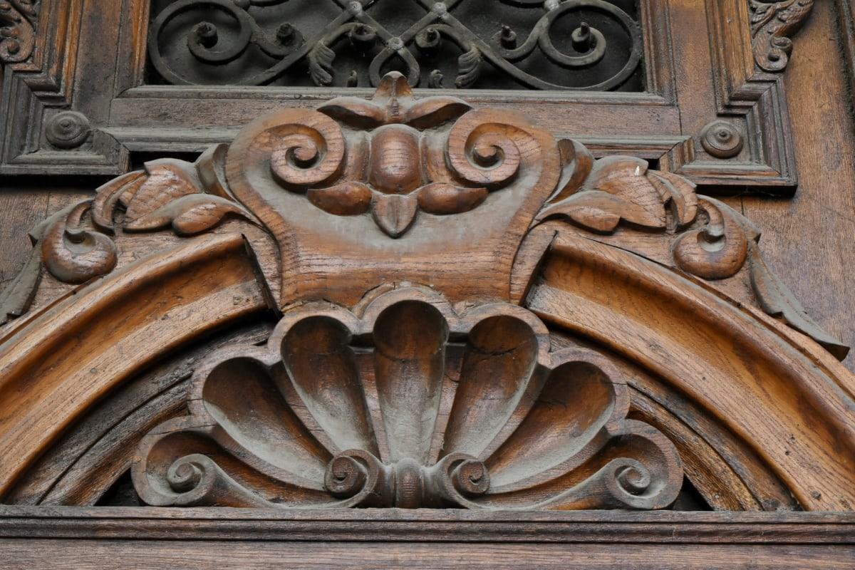 řezbářské práce, sochařství, umění, staré, architektura, starožitnost, starověké, dveře