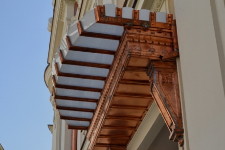 copper, decorative, entrance, architecture, building, house, daylight, outdoors
