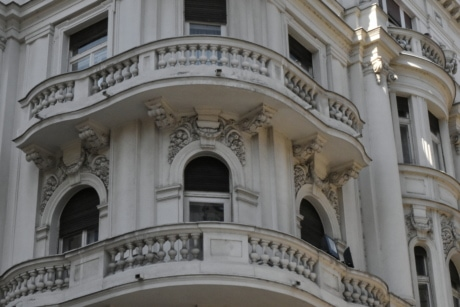 balcony, baroque, capital city, European, style, architecture, building, facade