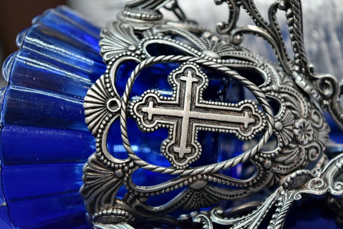 christianity, cross, silver, decoration, design, art, symbol, vintage