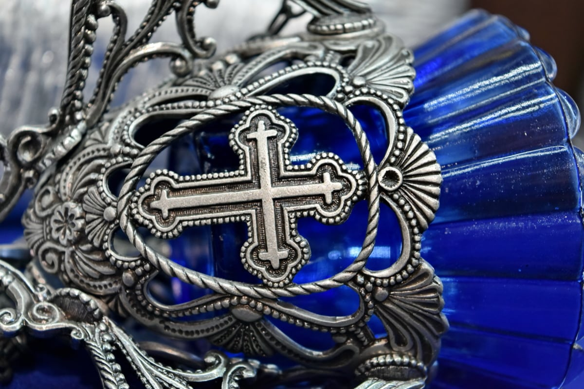 christianity, cross, crystal, religion, silver, buckle, decoration, design