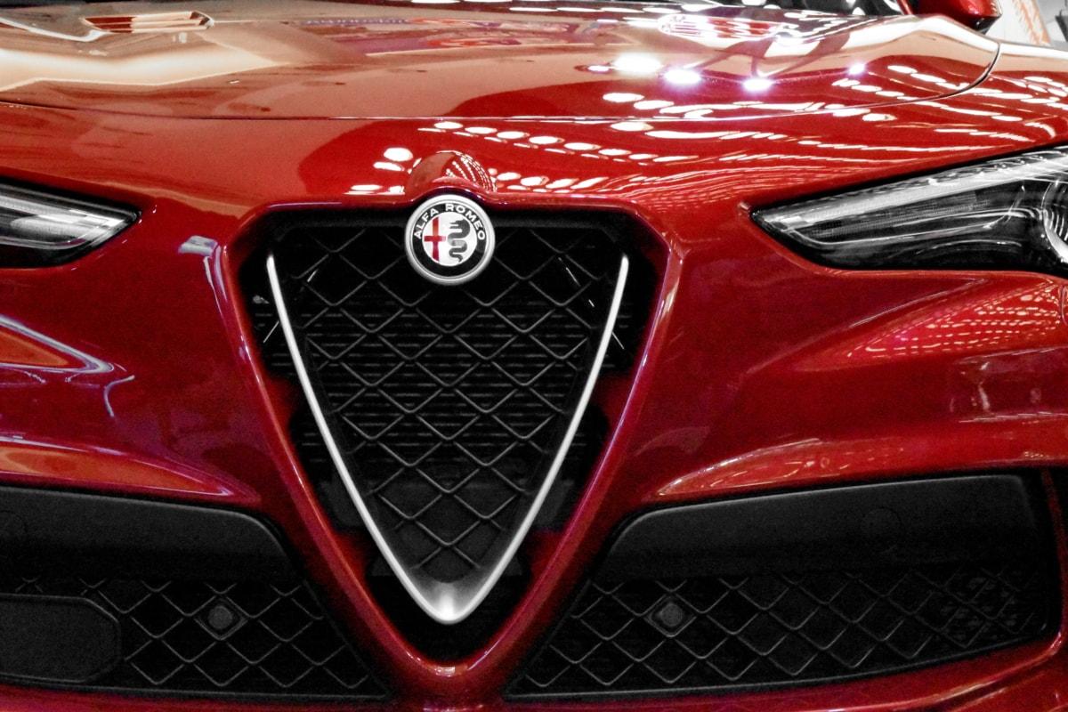 fordon, krom, bil, automotive, klassisk, galler, snabb, strålkastare